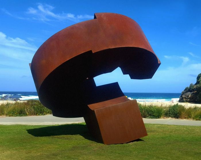 Existence -Just a loop in time, Corten steel 2016, H 4,5 m, Sydney SXS 2017  Australia