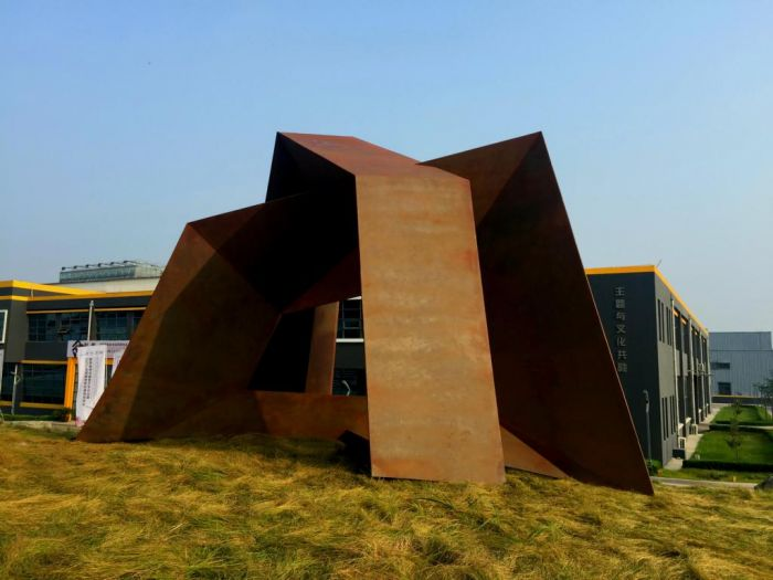Hommage a Mont Tai, Corten steel  2017, H 5,4 m, Tai'an Shandong China